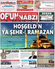 Of'un Nabzı Gazetesi 117. Sayısı