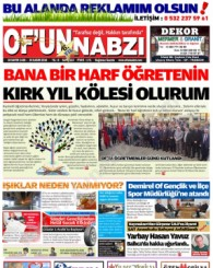 Of'un Nabzı Gazetesi 123. Sayısı