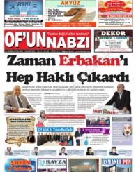 Of'un Nabzı Gazetesi 96. Sayısı