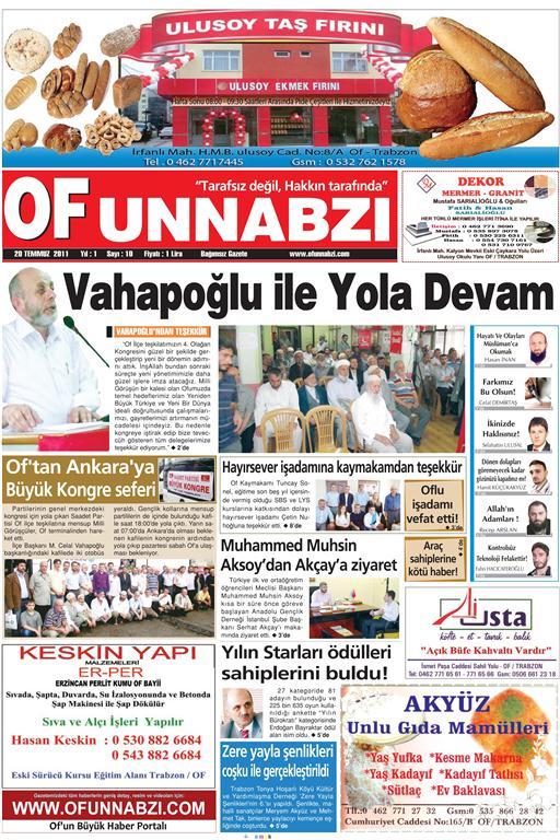 OfunNabzı Gazetesi 10. Sayı