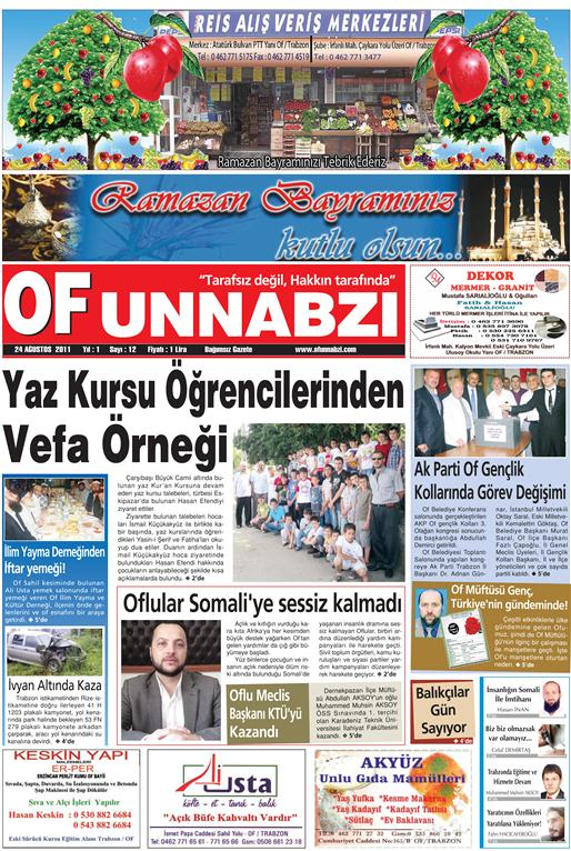 OfunNabzı Gazetesi 12. Sayı
