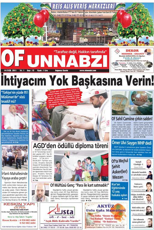 OfunNabzı Gazetesi 13. Sayı