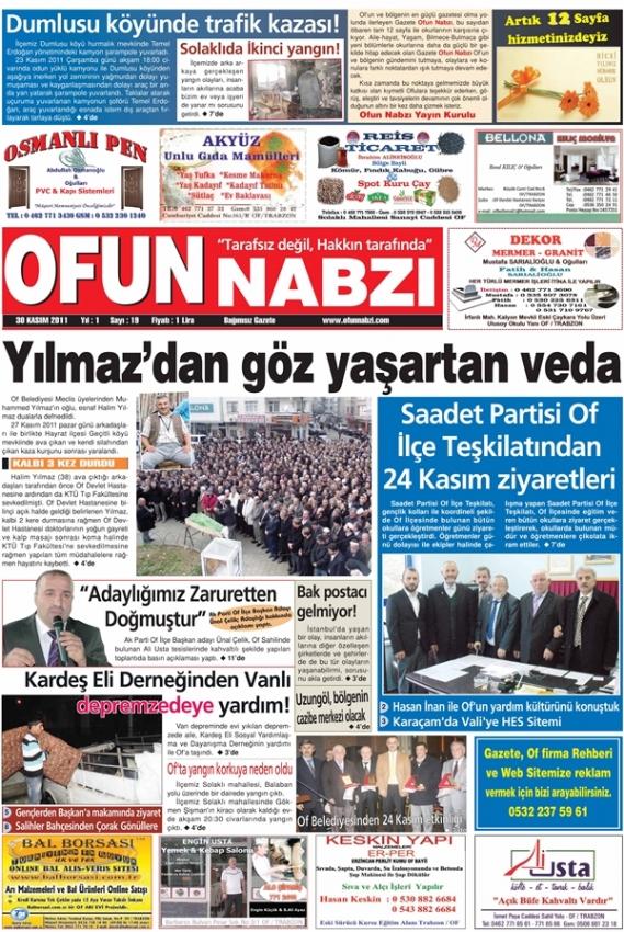 Gazete Ofun Nabzı yeni sayı