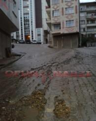 01 Kasım 2014 Of İlçesindeki Şiddetli Yağmur