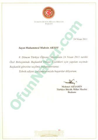 Türkiye Öğrenci Meclis Başkanı