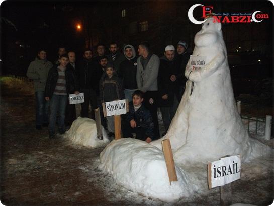 Milli Görüş Gençliği Siyonizmi Toprağa Gömdü!