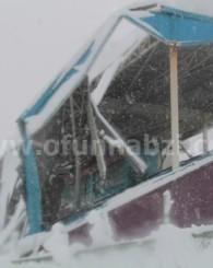 Ofspor Stadyum Çatısı Çöktü