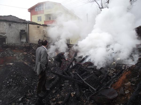 Balaban Hamzalı Mahallesinde yangın!