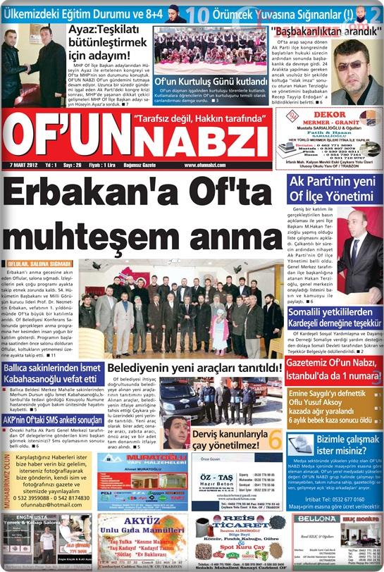 Of'un Nabzı Gazetesi 26. Sayısı