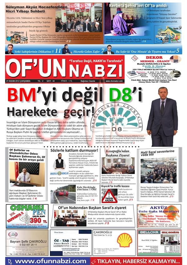 Of'un Nabzı Gazetesi 44. Sayısı
