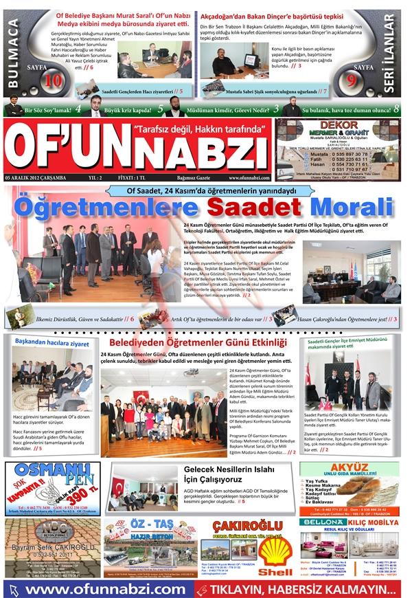 Of'un Nabzı Gazetesi 45. Sayısı