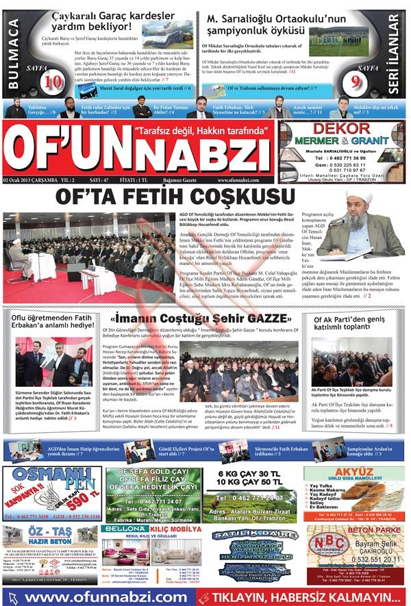 Of'un Nabzı Gazetesi 47. Sayısı