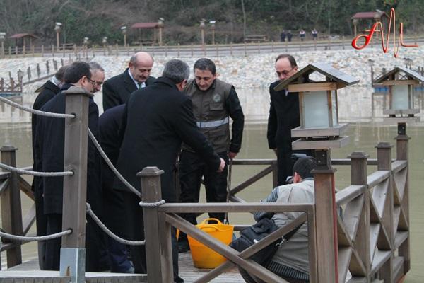 Bakan Veysel Eroğlu Of'ta incelemelerde bulundu