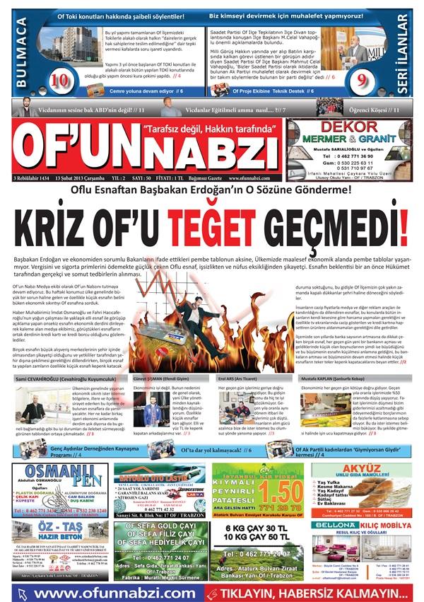Of'un Nabzı Gazetesi 50. Sayısı