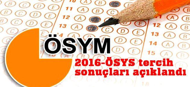 2016-ÖSYS tercih sonuçları açıklandı