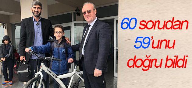60 Sorudan 59'unu doğru bildi!