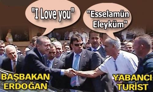"Başbakan'dan turiste: ""I love you"""
