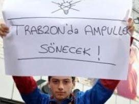 Taraftar kükredi: Trabzon'da ampuller sönecek