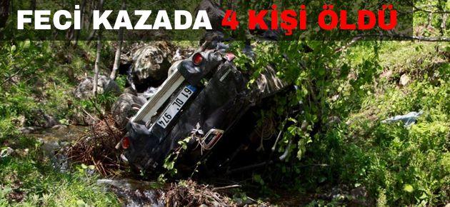 Araklı'da feci kaza: 4 ölü, 3 yaralı