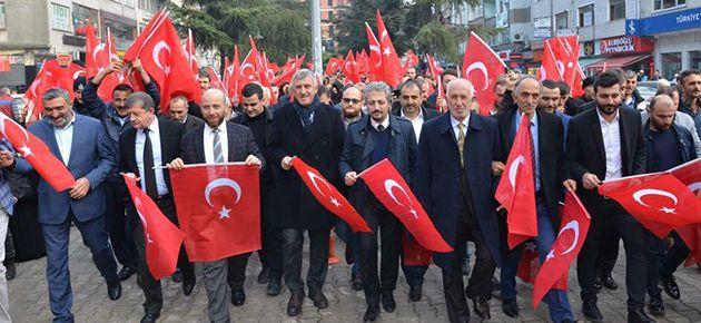 Bakan Soylu için destek yürüyüşü