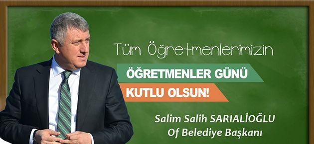 Başkan Sarıalioğlu'nun 24 Kasım Öğretmenler Günü Mesajı