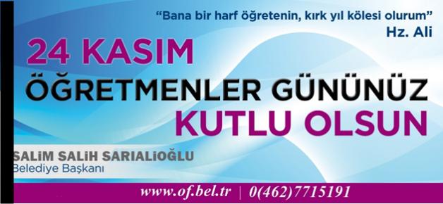 Başkan Sarıaloğlu'nun 24 Kasım...