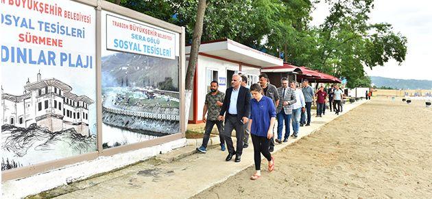 Başkan Zorluoğlu Halk Plajlarını İnceledi