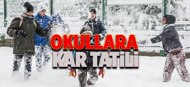 Çaykara'da Kar Tatili