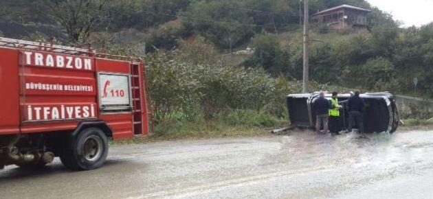 Dernekpazarı'nda Trafik Kazası!