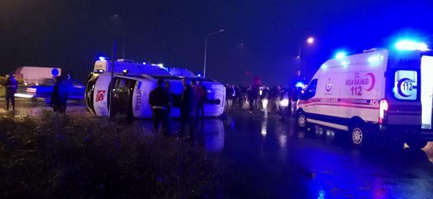 Eskipazar mevkiinde trafik kazası