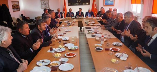 Fırat Okul Müdürleri ile Kahvaltı Yaptı