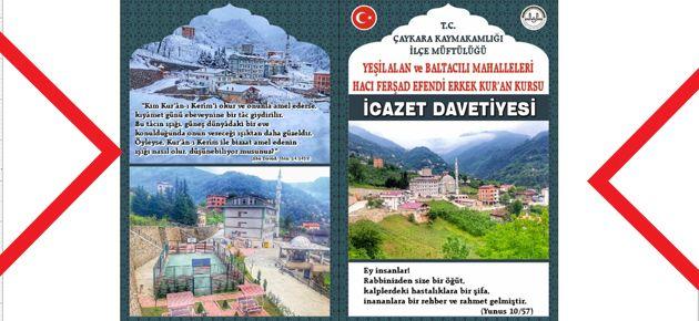 H. Ferşad Efendi Kursunda İcazet...