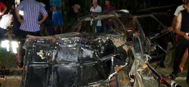 Hayrat Yolunda Feci Trafik Kazası!