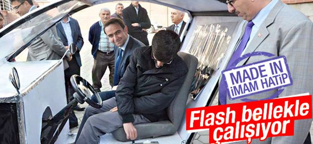 İHL Öğrencisinden Flash Bellekle Çalışan Otomobil!