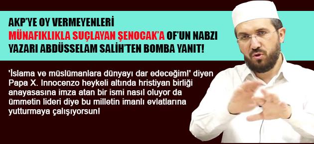 İhsan Şenocak'ın 'münafık' ilan ettiği Müslümanlardanım elhamdülillah!