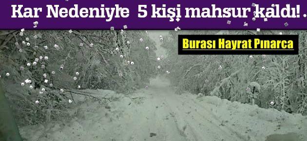 Kar Yağışı Nedeniyle Hayrat'ta...