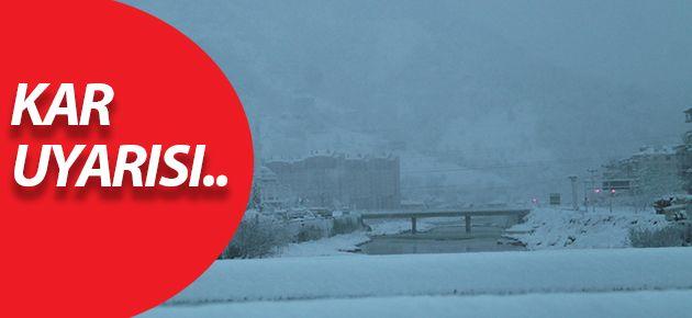 Kar Yağışı Uyarısı!