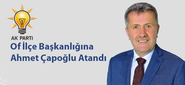 Of İlçe Başkanlığına Ahmet Çapoğlu Atandı