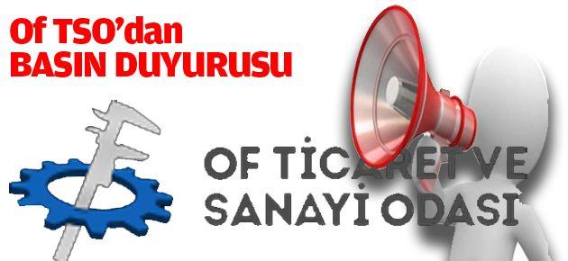 Of TSO'dan BASIN DUYURUSU
