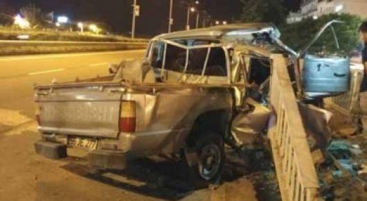 Of'ta feci kaza 2 kişi öldü
