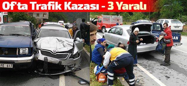 Of'ta Trafik Kazası - 3 Yaralı