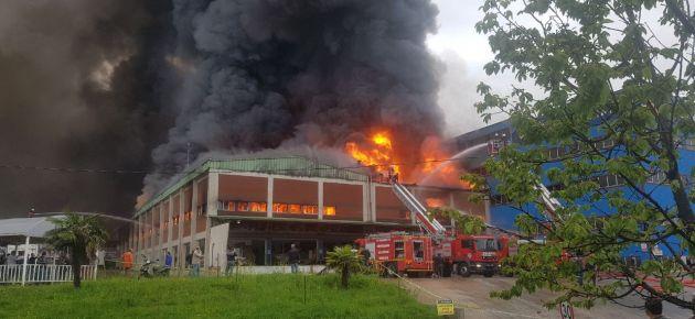 Organize Sanayi Bölgesi'nde Büyük Yangın