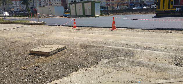 Sanayi yolu asfaltlanıyor