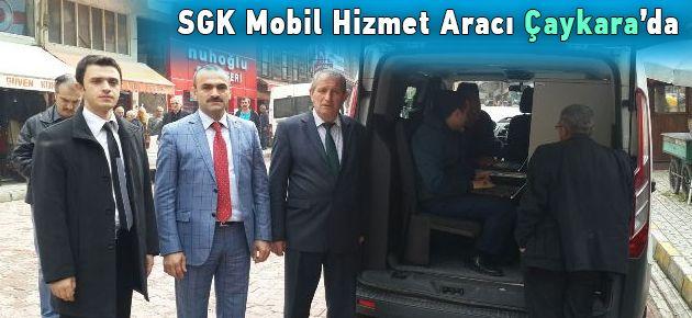 SGK Mobil Hizmet Aracı Çaykara'da