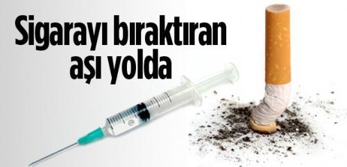 Sigarayı bıraktıran aşı yolda