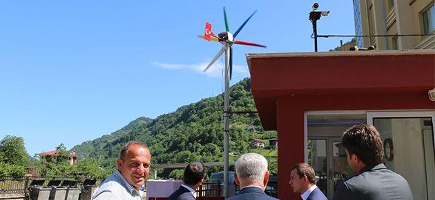Solaklı Anadolu Lisesinden Rüzgâr Enerjisi projesi