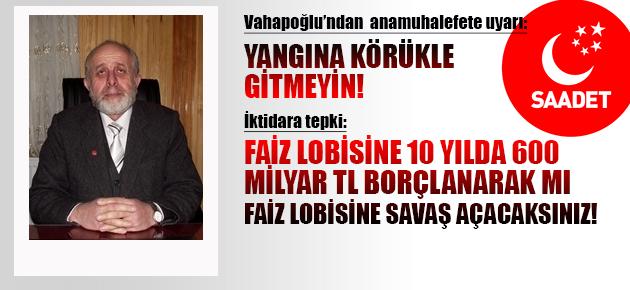 SP Of İlçe Başkanı Vahapoğlu'ndan gerilim uyarısı!