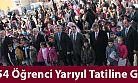 7554 Öğrenci Yarıyıl Tatiline Girdi