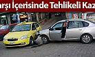 Of Belediyesi Önünde Trafik Kazası