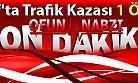 Of'ta Trafik Kazası 1 Ölü